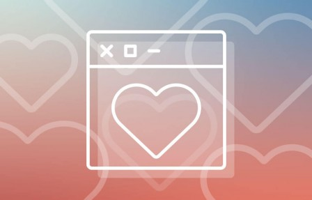 cœur dans une fenêtre de navigateur (mission)