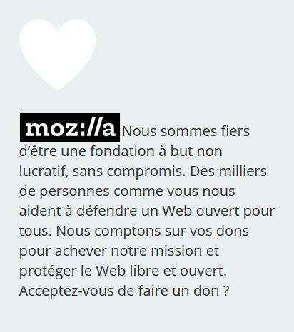 Faites un don à Mozilla