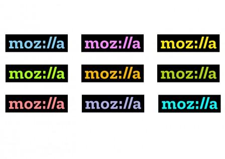 Logo de Mozilla en différentes couleurs