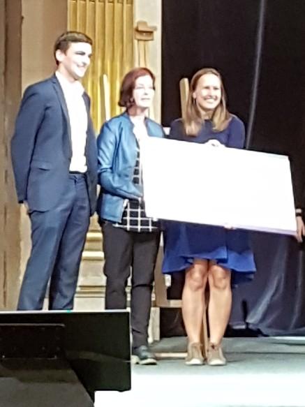 Cofondateurs de Vitrue Health et Mitchell Baker de Mozilla lors du Women Startup Challenge Europe 2018