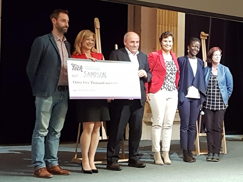 Le grand prix 2018 avec le jury du Women Startup Challenge Europe 2018