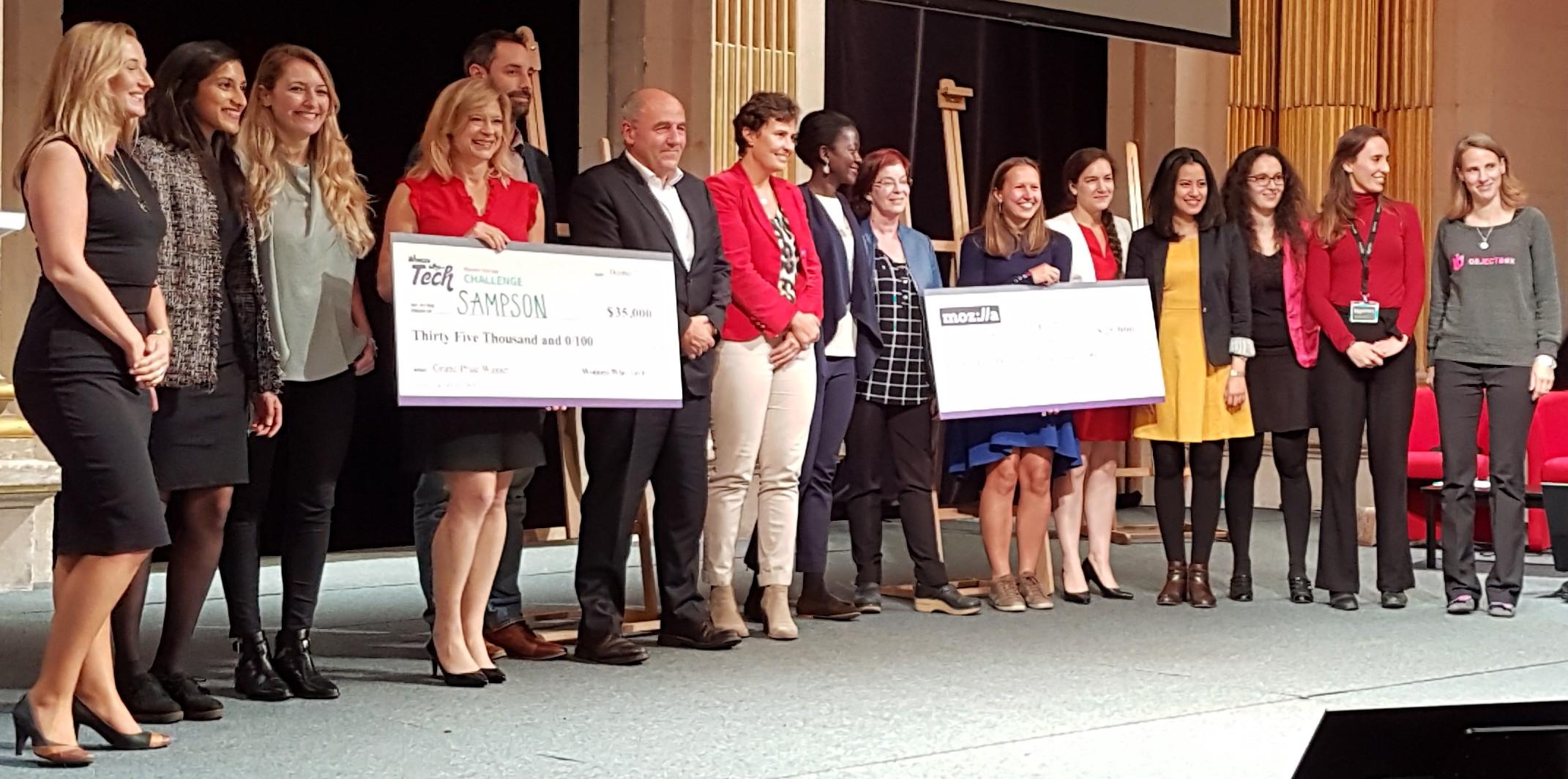 Finalistes et jury du Women Startup Challenge Europe 2018