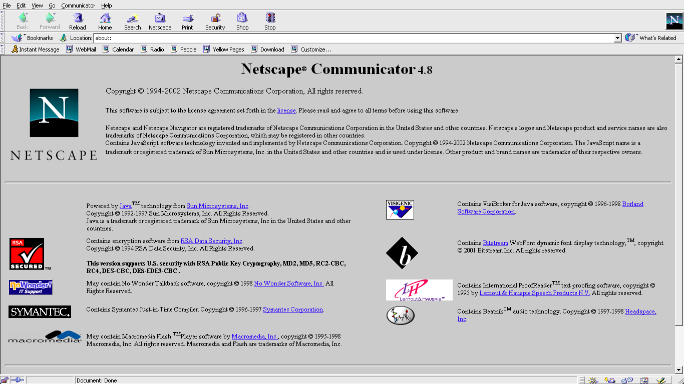 Netscape Communicator 4.8